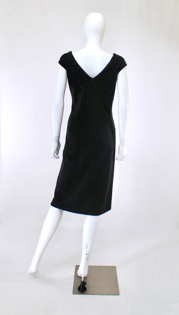 1950s Black Wiggle Dress - 1950s Studded Dress - … - image 7