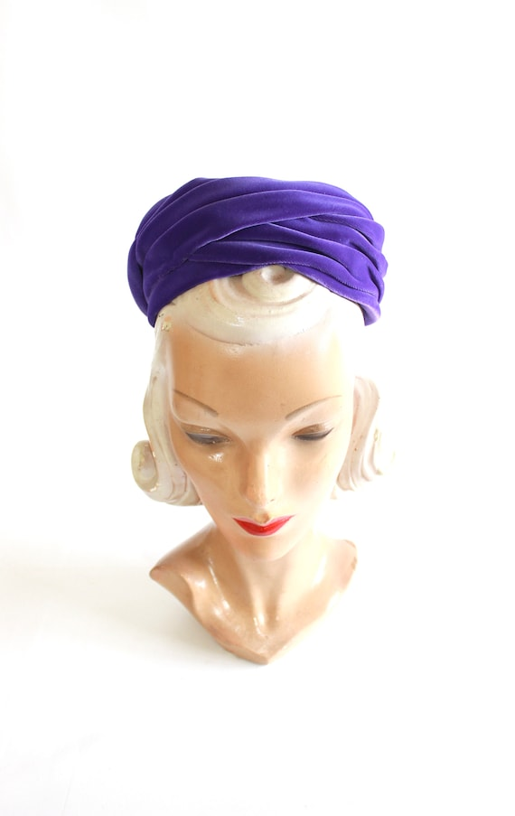 1960s Purple Pillbox - 1960s Purple Hat - Vintage… - image 8