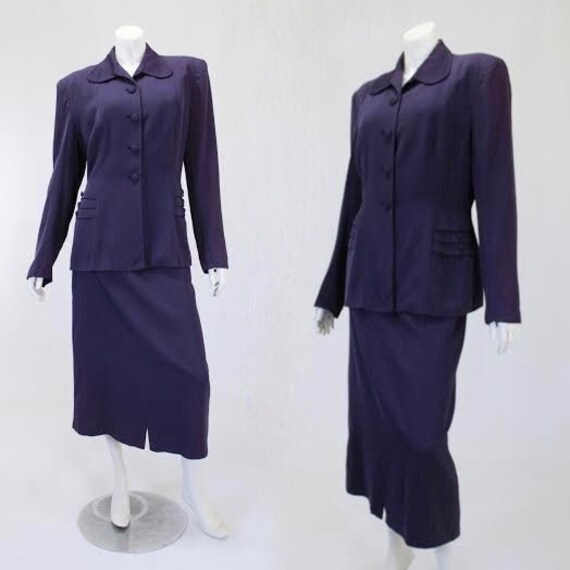 1940s Purple Suit - Womens Purple Suit - Purple Ga