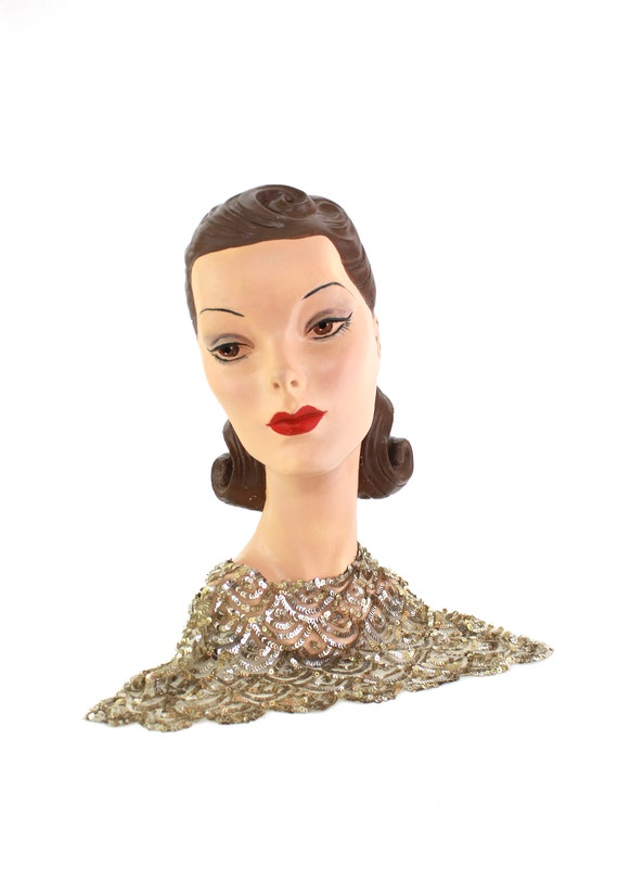 1920s Sequin Collar - 1920s Sequin Bib - 1920s Seq