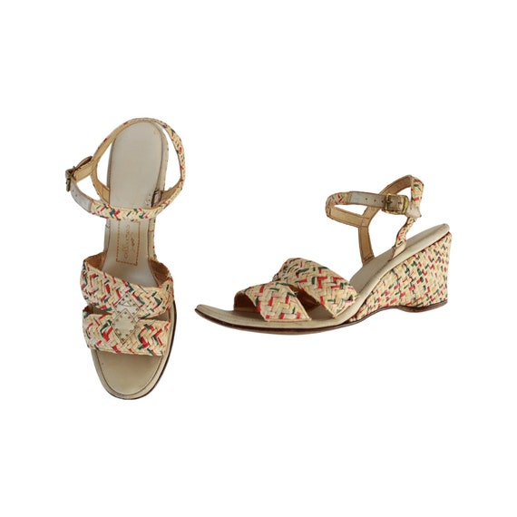 1940s Wedge Sandals - 1940s Wedges -1940s Sandals