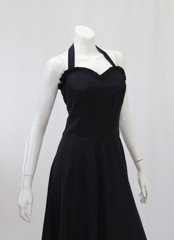 1930s Black Dress - 1930s Gown - 1930s Evening Go… - image 7
