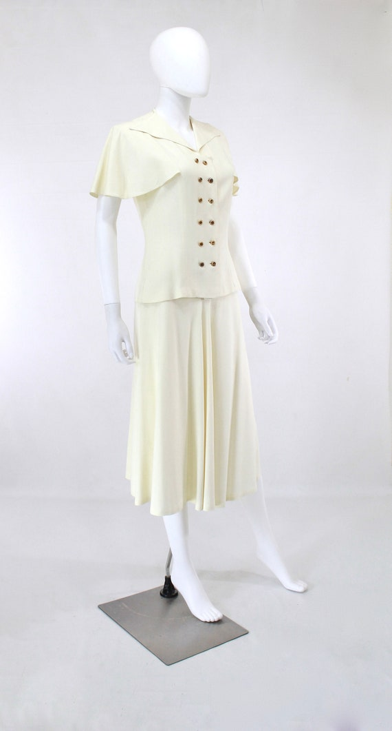 1940s Ivory Wedding Suit - 1940s Wedding Suit - 1… - image 4