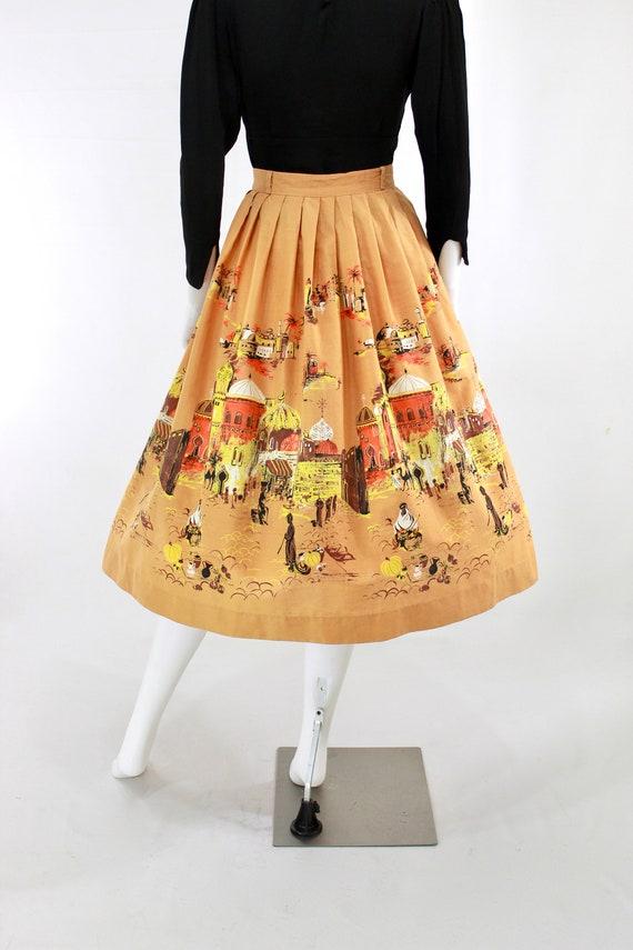 RESERVED | 1950s Millworth Orange Casbah Novelty … - image 8