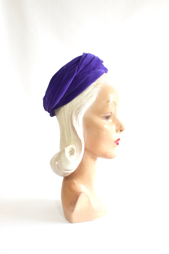 1960s Purple Pillbox - 1960s Purple Hat - Vintage… - image 4