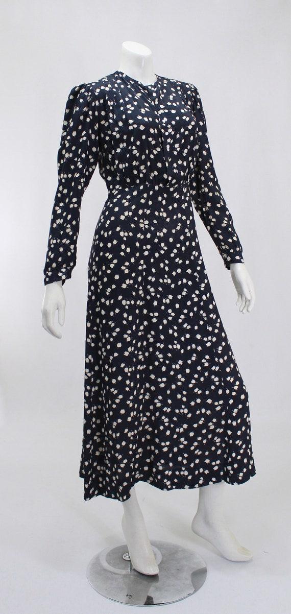 1930s Novelty Print Dress - 1930s Afternoon Dress… - image 5