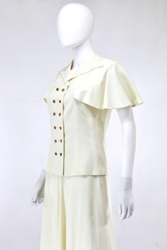1940s Ivory Wedding Suit - 1940s Wedding Suit - 1… - image 2