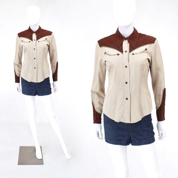 1940s Gabardine Blouse - 1940s Womens Western Wear