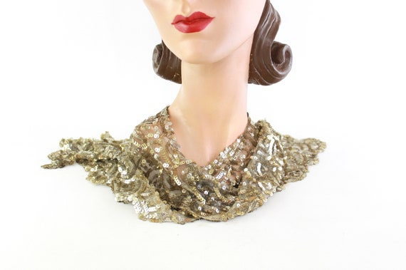 1920s Sequin Collar - 1920s Sequin Bib - 1920s Se… - image 9