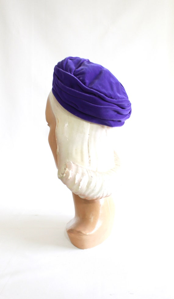 1960s Purple Pillbox - 1960s Purple Hat - Vintage… - image 10