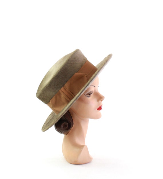Edwardian Fur Felt Hat - Edwardian Womens Hat - Ed