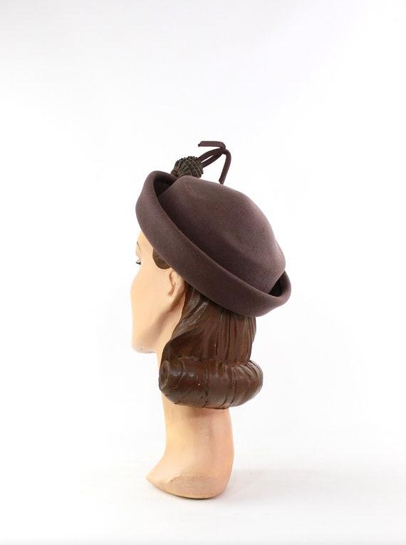1940s Heather Gray Hat - 1940s Dove Gray Hat - Vi… - image 4