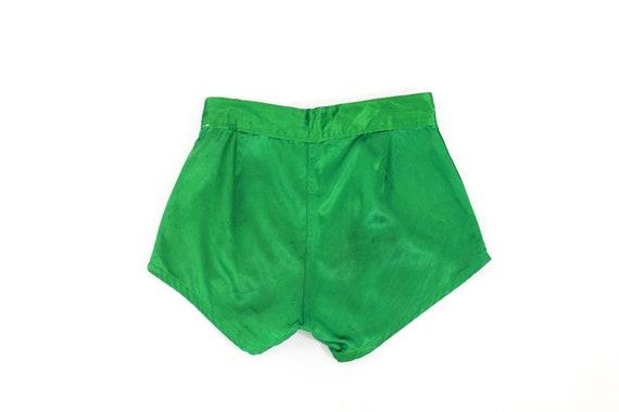 1940s Satin Shorts - 1940s Green Satin Shorts - 1… - image 6