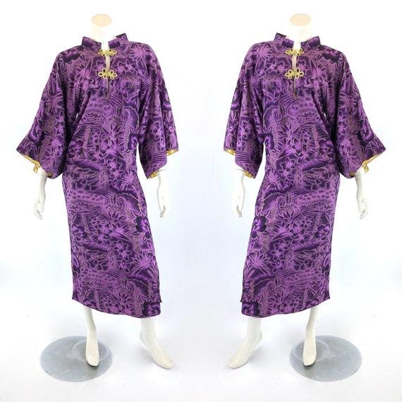 1950s Pake Muu - 1950s Hawaiian Pake Muu - Purple