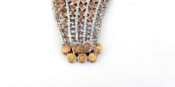 Vintage Czech Rhinestone Hand Brooch - Vintage Ha… - image 6