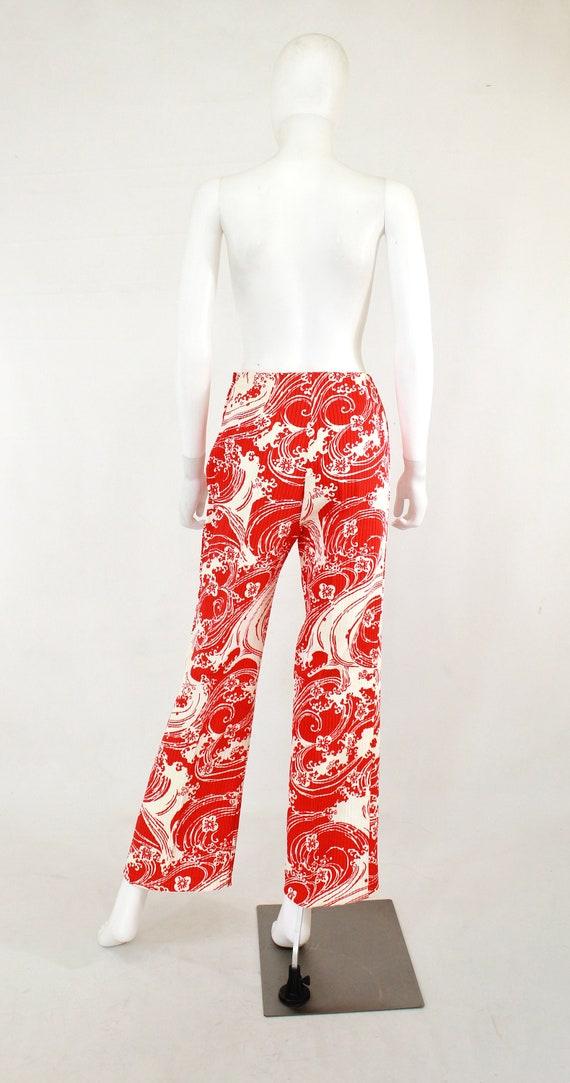 1960s Wave Novelty Print Pant Suit - 1960s Honeym… - image 9