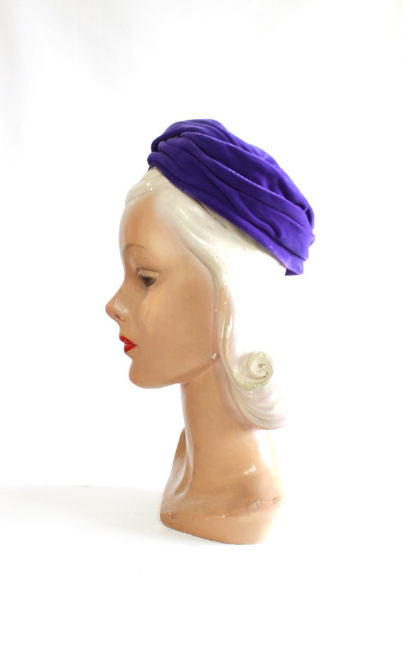 1960s Purple Pillbox - 1960s Purple Hat - Vintage… - image 6