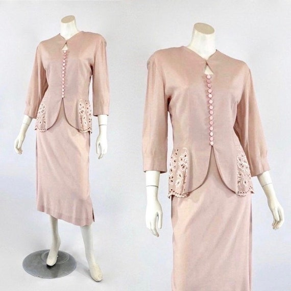 1930s Womens Suit - Womens Pink Suit - 30s Pink Su