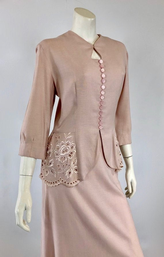 1930s Womens Suit - Womens Pink Suit - 30s Pink S… - image 3