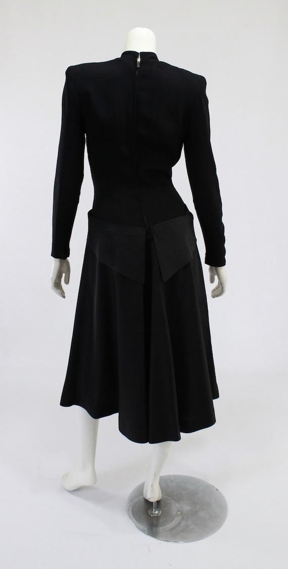 1940s LBD - 1940s Cocktail Dress - 1940s Black Dr… - image 5