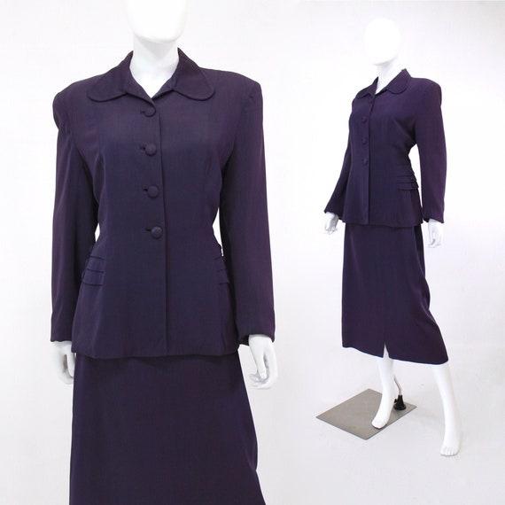 1940s Purple Suit - Womens Purple Suit - Purple Ga