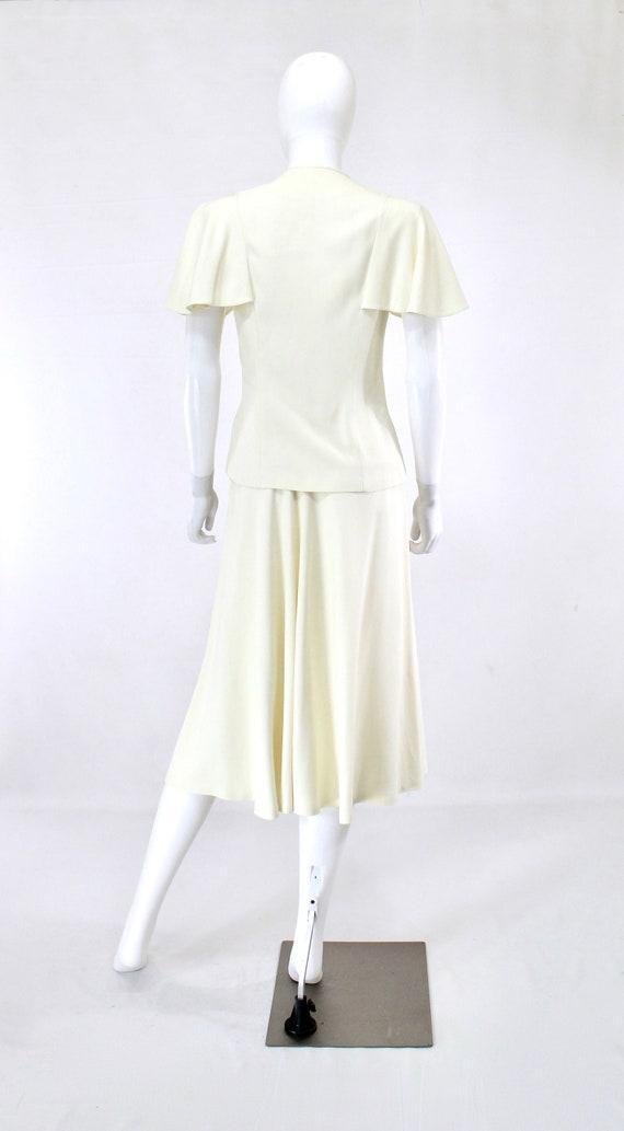 1940s Ivory Wedding Suit - 1940s Wedding Suit - 1… - image 6