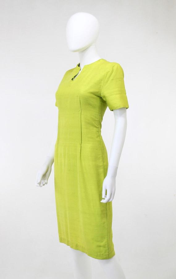 1950s Chartreuse Dress - 1950s Green Dress - 1950… - image 3