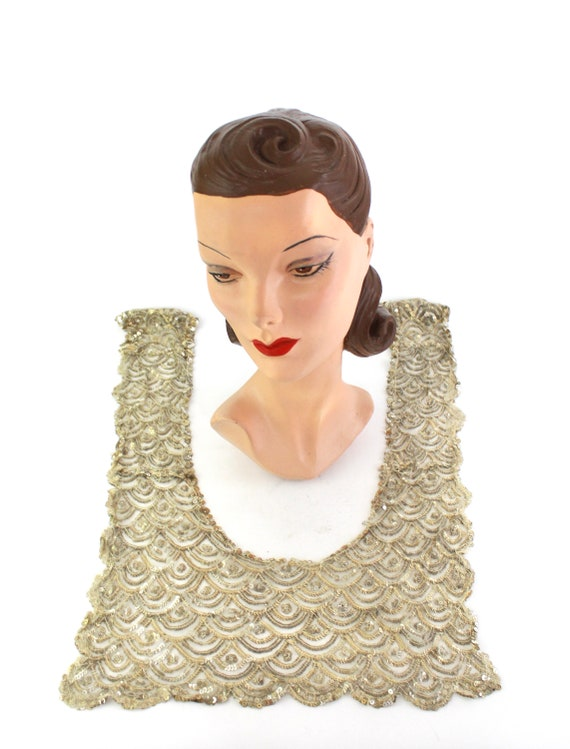 1920s Sequin Collar - 1920s Sequin Bib - 1920s Se… - image 2