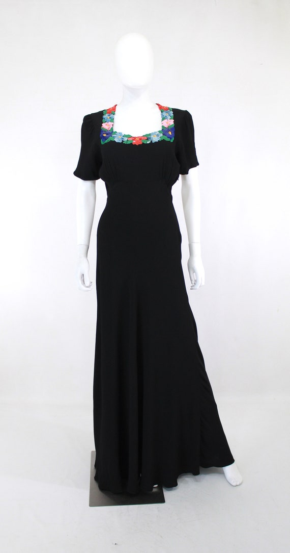 PRISTINE 1940s Colorful Sequin Evening Gown - 194… - image 3
