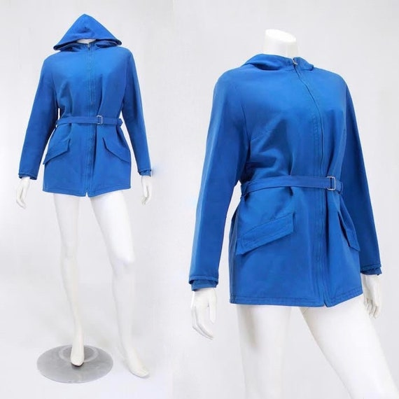 1940s Womens Ski Coat - 1940s Blue Ski Jacket - Wo