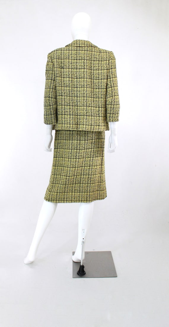 1960s Chartreuse Wool Suit - 1960s Chartreuse Sui… - image 8