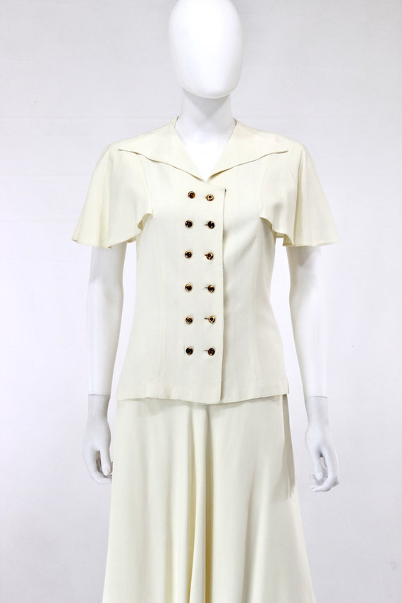 1940s Ivory Wedding Suit - 1940s Wedding Suit - 1… - image 7