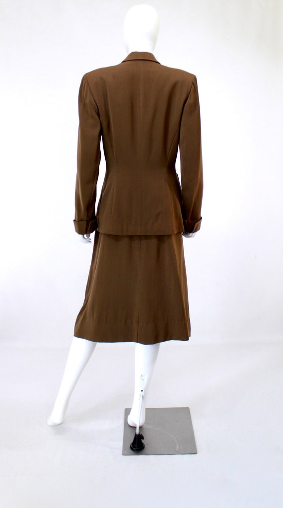 RESERVED | 1940s Womens Brown Suit - 1940s Brown … - image 7