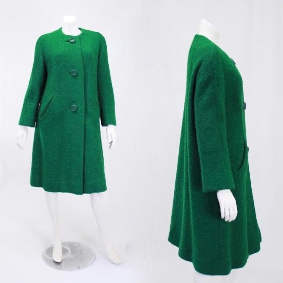 1960s Green Coat - Womens Green Coat - Green Swing