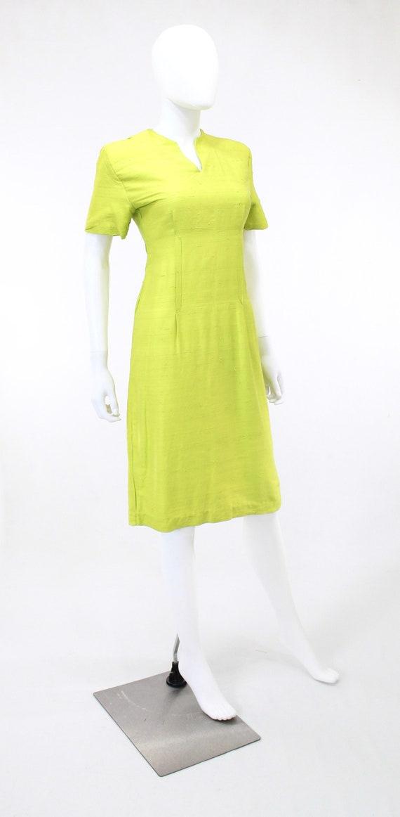 1950s Chartreuse Dress - 1950s Green Dress - 1950… - image 7