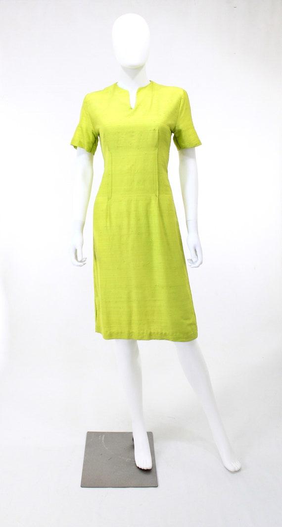 1950s Chartreuse Dress - 1950s Green Dress - 1950… - image 10
