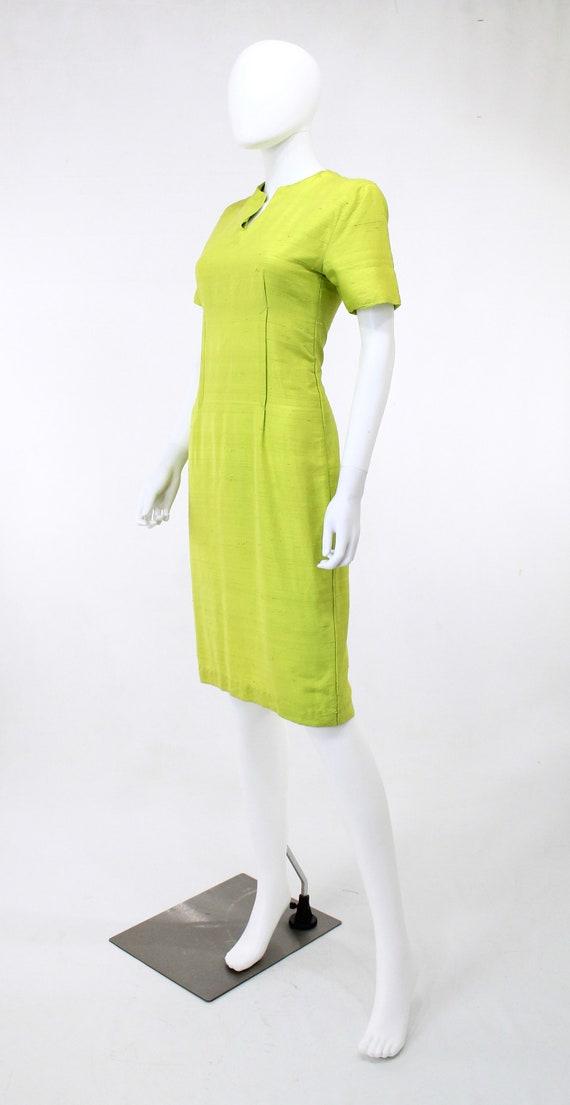 1950s Chartreuse Dress - 1950s Green Dress - 1950… - image 4