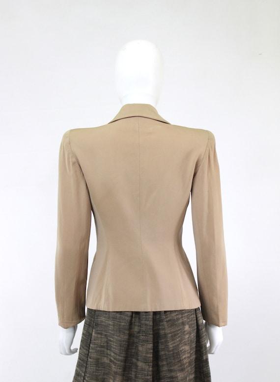1940s Taupe Gabardine Jacket - 1940s Gabardine Ja… - image 8