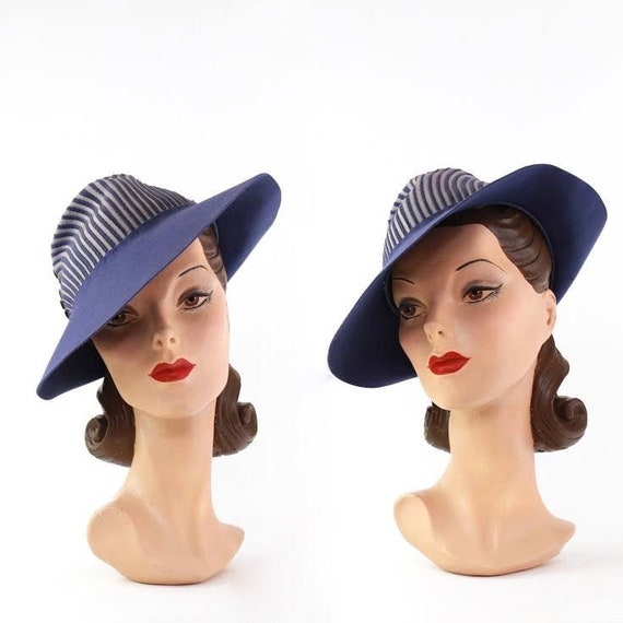 RESERVED | RARE 1930s Periwinkle Blue Fedora - 193