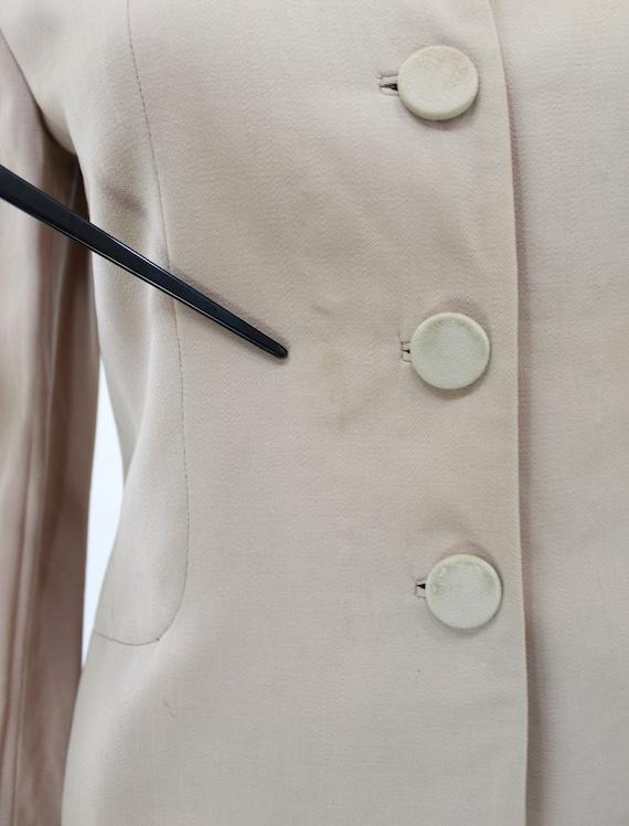 1940s Taupe Gabardine Jacket - 1940s Gabardine Ja… - image 10