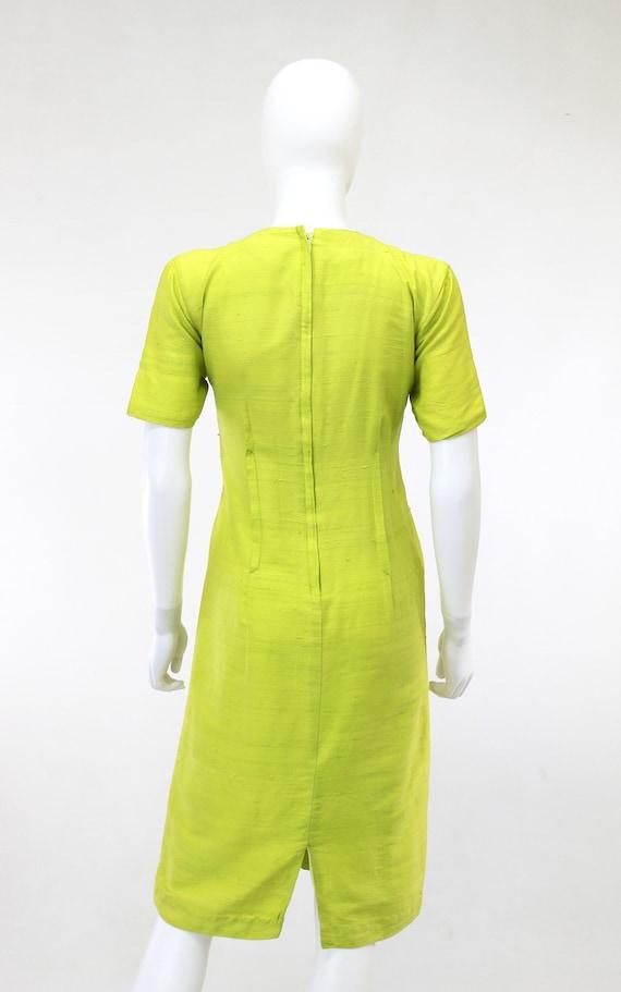 1950s Chartreuse Dress - 1950s Green Dress - 1950… - image 5