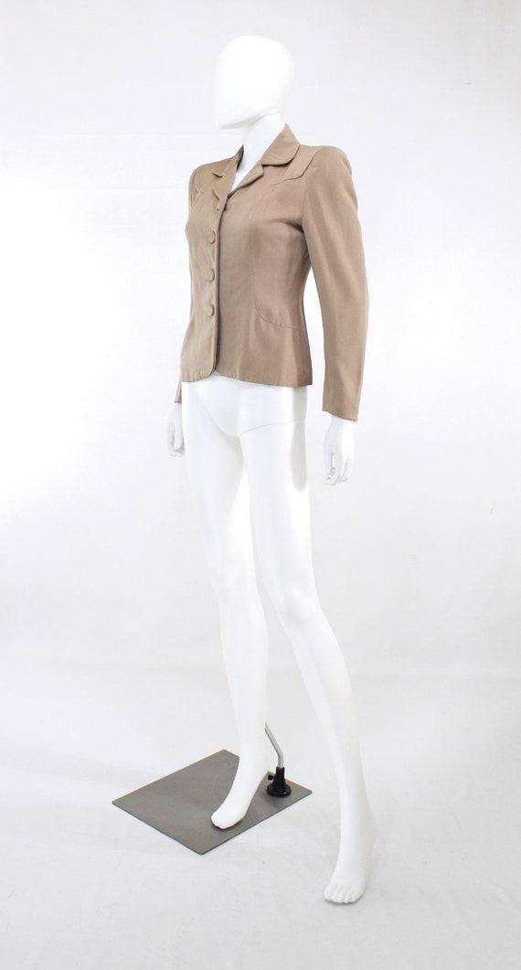 1940s Taupe Gabardine Jacket - 1940s Gabardine Ja… - image 7