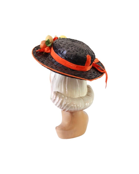 1940s Autumn Boater Hat - 1940s Navy Blue Hat - 1… - image 6