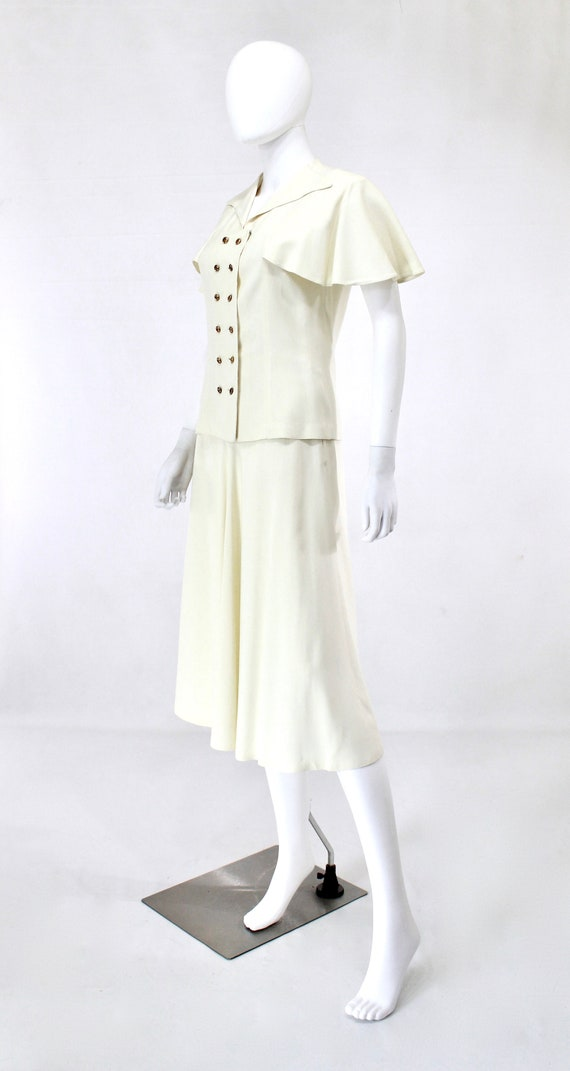 1940s Ivory Wedding Suit - 1940s Wedding Suit - 1… - image 3