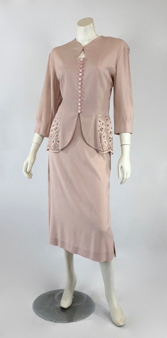 1930s Womens Suit - Womens Pink Suit - 30s Pink S… - image 2