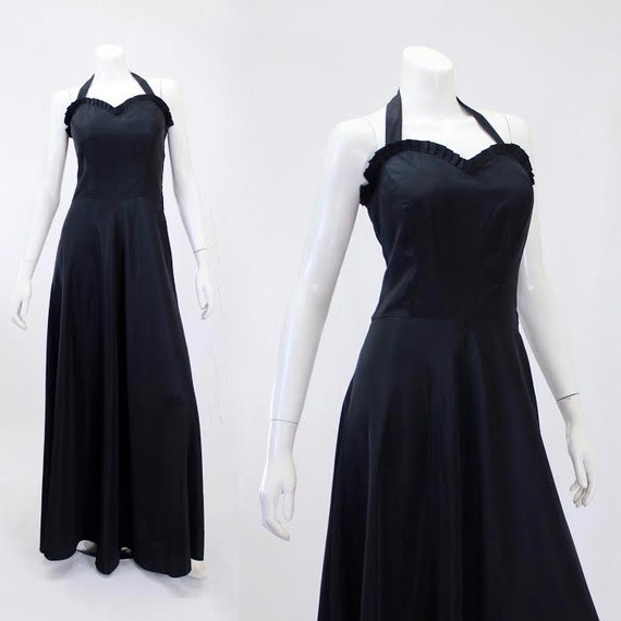 1930s Black Dress - 1930s Gown - 1930s Evening Gow