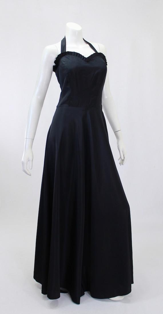 1930s Black Dress - 1930s Gown - 1930s Evening Go… - image 8
