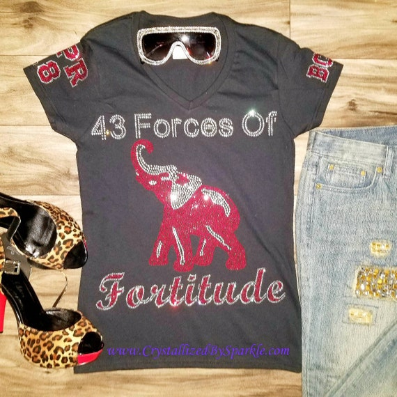 Delta Sigma Theta Inspired 43 Forces Of Fortitude Line Only Etsy