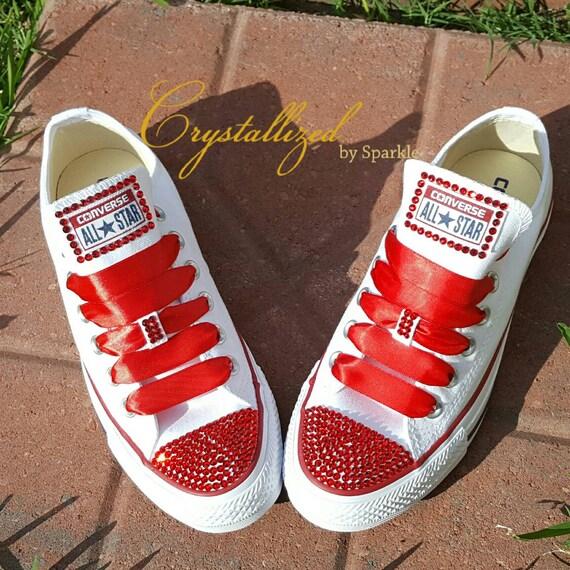 Red Converse Chuck Taylor All Stars Adorned with Swarovski®  65e2f798f1