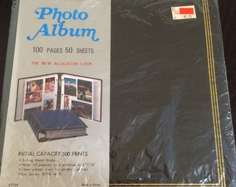 Vintage Sentry 100 Pages 50 Sheets Plastic Overlay Photo Album Factory Sealed